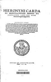 Hieronymi Cardani De subtilitate: libri 21 ; nunc demum recogniti atque perfecti