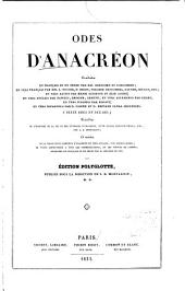 Odes d'Anacréon