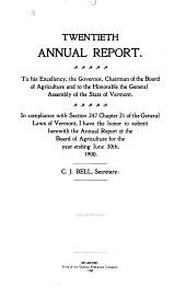Annual Report ...: Volume 20, Part 1900