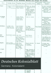 Deutsches Kolonialblatt: Amtsblatt des Reichskolonialamt, Band 3