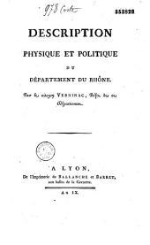 Description physique et politique du départ. du Rhône par Verninac