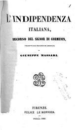 L'indipendenza italiana discorso del signor di Cormenin