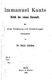 Immanuel Kants Kritik der reinen Vernunft