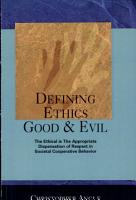Defining Ethics Good   Evil PDF