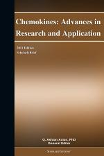 Chemokines: Advances in Research and Application: 2011 Edition