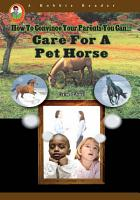 Care for a Pet Horse PDF