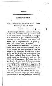 De la langue Néerlandaise et de la langue Hollandaise du 17e siècle