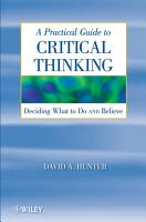 A Practical Guide to Critical Thinking PDF