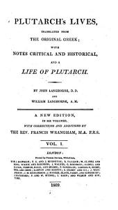 Plutarch's Lives, 1: Translated from the Original Greek