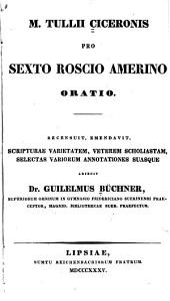 M. Tullii Ciceronis Pro Sexto Roscio Amerino oratio