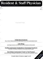 Resident   Staff Physician PDF
