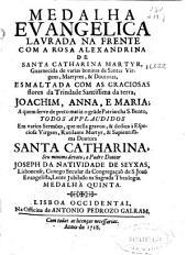 Medalha Evangelica Laurada na frente com a rosa alexandrina de Santa Catharina martyr ...