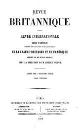 Revue britannique: Revue internationale reproduisant les articles des meilleurs écrits periodiques de l'étranger, complètés par des articles originaux, Volumes1à2