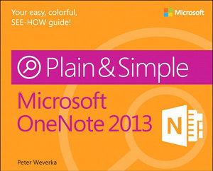 Microsoft OneNote 2013 Plain   Simple