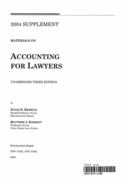 Accounting For Lawyers 2004 PDF