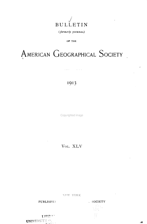 Bulletin of the American Geographical Society PDF