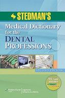 Stedman s Dental Dictionary PDF