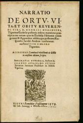 Carmina Doctorum Virorum In Obitum D. Henrici Bullingeri, Ecclesiae Tigurinae Pastoris fidelissimi, scripta