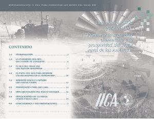 IICA  Promover la Seguridad Alimentaria y la Prosperidad del Sector Rural de las Americas PDF