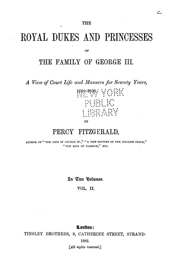 The Royal Dukes and Princesses of the Family of George III.