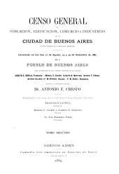 Censo general de población, edificación, comercio e industrias de la ciudad de Buenos Aires, capital federal de la República Argentina: Estado de la población de Buenos Aires en 1887