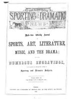 The Illustrated sporting   dramatic news PDF