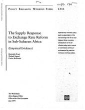 The Supply Response to Exchange Rate Reform in Sub-Saharan Africa: (empirical Evidence)
