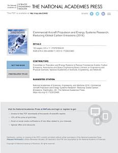 Commercial Aircraft Propulsion and Energy Systems Research