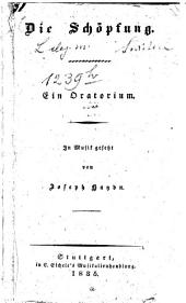 Die Schöpfung: Ein Oratorium