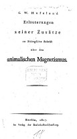 Erl  uterungen seiner Zus  tze zu Stieglitz  Schrift   ber den animalischen Magnetismus PDF