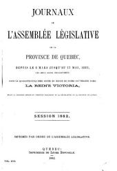 Journaux de l'Assemblee Legislative: Volume 16
