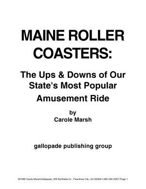 Maine Rollercoasters  PDF