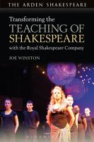 Transforming the Teaching of Shakespeare with the Royal Shakespeare Company PDF