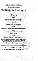 Chronologische Geschichte der baierischen St  dte Dillingen  Lauingen und Rain PDF