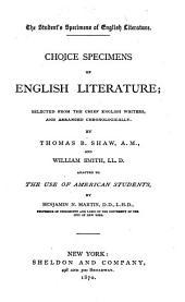 Choice Specimens of English Literature