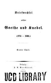 Goethe's und Knebel's Briefwechsel
