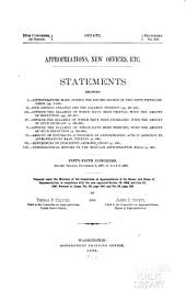 Statements showing appropriations, new offices, &c: 55. Cong. 2. Sess. Dec. 6, 1897-Jul. 8, 1898