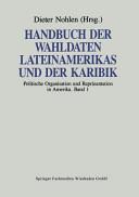 Handbuch der Wahldaten Lateinamerikas und der Karibik PDF