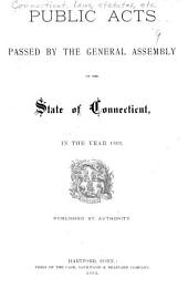 Public Acts Passed by the General Assembly of the State of Connecticut: Volume 1895