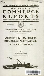 Agricultural machinery, implements, and tractors in the United Kingdom
