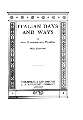 Italian Days and Ways