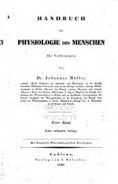 Handbuch der physiologie des menschen für vorlesungen: Band 1,Teil 2