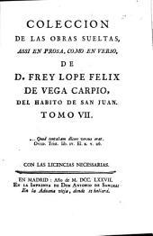 Colección de las obras sueltas: assi en prosa, como en verso, Volumen 7