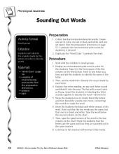 Environmental Print & Phonological Awareness: Sounding Out Words