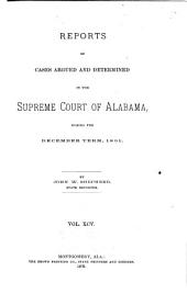 Reports of Cases Argued and Determined in the Supreme Court of Alabama: Volume 95