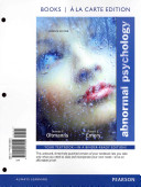 Abnormal Psychology Books Ala Carte Edition