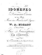 Idomeneo: dramma eroico in 3 atti ; KV 366