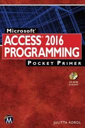 Microsoft Access 2016 Programming Pocket Primer