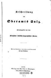Beschreibung des Oberamts Sulz