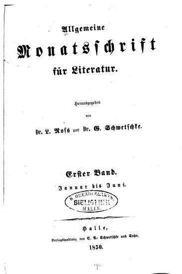 Allgemeine Monatsschrift f  r Literatur PDF